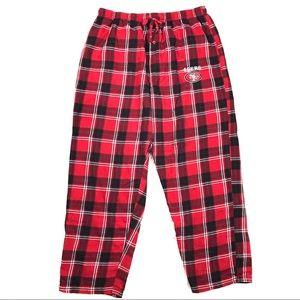 NFL Large SF 49ers Niners Pajama Pants Sweatpants